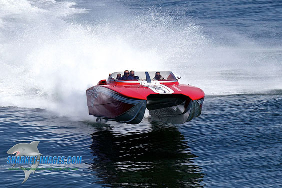 A poker run leads off the weekend action during the Atlantic City Festival of Speed. (Photo by Tim Sharkey.)