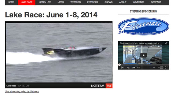 It was easy to follow the Lake Race competition via the live stream on the KRMS Radio website.