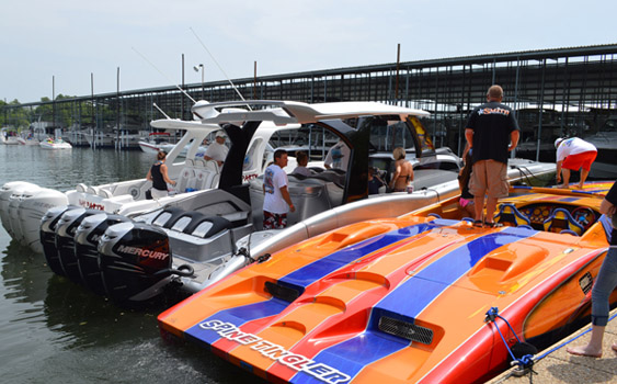 Friends of the late engine builder Brad Smith descended on Grand Lake last weekend for a poker run in his honor.