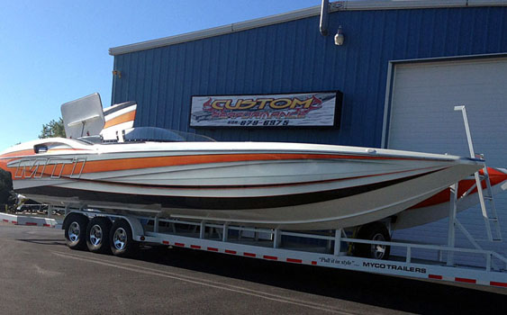 You'd never know Brian Shelton's 40-foot MTI was built in 2008 thanks to the restoration the catamaran has undergone since coming off its trailer in a snowstorm 18 months ago.