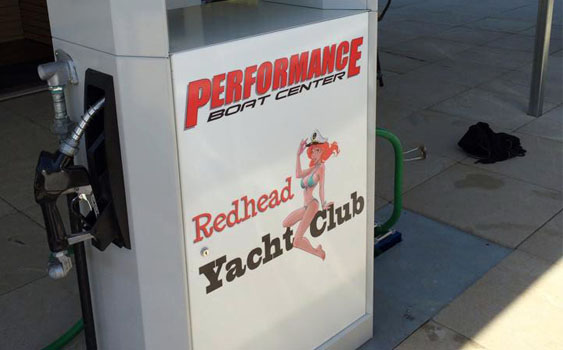 The Redhead Yacht Club and Performance Boat Center fuel dock is ready to serve the boating public.