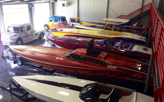 From canopied cats and V-bottoms to center consoles and single-engine sportboats, Performance Boat Center has a wide variety of boats on display in its new showroom.