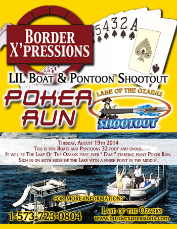 New to the week of Shootout activities this year is the Lil Boat and Pontoon Poker Run for boats 32 feet and under.