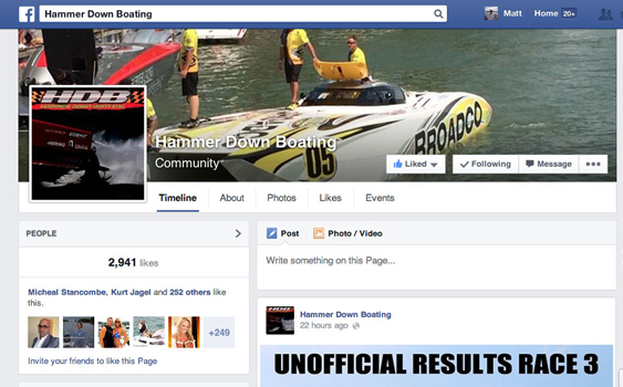 For offshore racing fans online, Hammer Down Boating has become a popular stop.