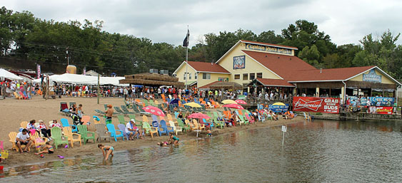 Not only will Captain Ron's be the place to be for Saturday and Sunday's Lake of the Ozarks Shootout top speed runs, but the restaurant in Sunrise Beach, Mo., will be the final stop for Friday's poker run this year. Photo by Jason Johnson.