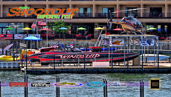 With help from Summerset Boat Lifts, Georgia's John Woodruff stole the show at SuperCat Fest by displaying his MTI and helicopter together.