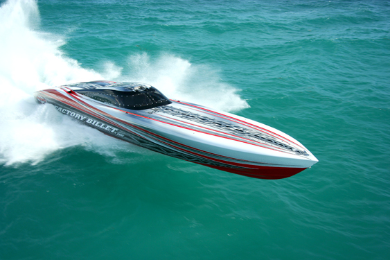 In the past 21 years, Outerlimits built more than 400 custom go-fast boats, many of them iconic in performance boating community. Photo courtesy Outerlimits Offshore Powerboats.