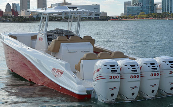 Under the ownership of NewBoatsDirect.com, Deep Impact Custom Boats models will be built at the Blackwater Boats facility in Opa-locka, Fla. Photo courtesy Deep Impact