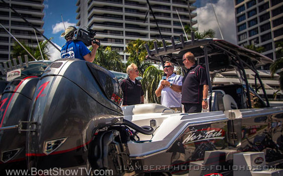 For a segment from the Palm Beach Boat Show on the new Boat Show TV series, Stu Jones catches up with Nor-Tech's Scot Conrad and Bob Crow of Nor-Tech Hi-Performance Boat Sales of Fort Lauderdale.