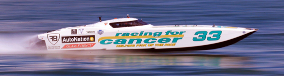 Don't bet against Racing for Cancer claiming third place overall in its class this year in the SBI Key West Offshore World Championships. Photo by Pete Boden/Shoot 2 Thrill Pix. (https://www.facebook.com/pages/Shoot-2-Thrill-Pix/130528070292399)