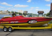 Illinois' John LiCausi is the proud owner of a 1996 P-29 Scarab, which was one of 29 special 40th anniversary 29-footers built.