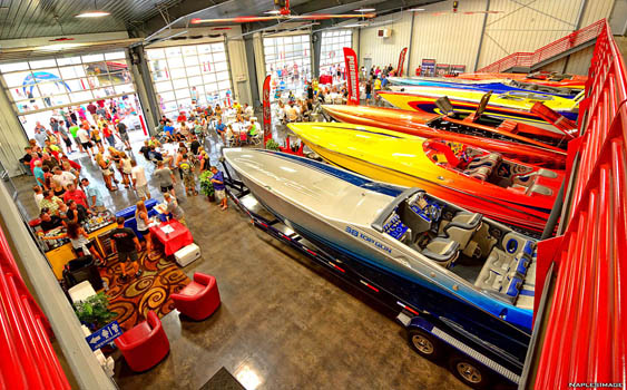 The new Performance Boat Center facility is expected to assist many boaters throughout the weeklong Lake of the Ozarks Shootout in August. Photo courtesy Performance Boat Center