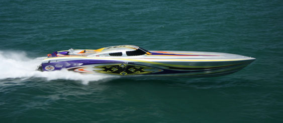Outerlimits built one for the ages with the iconic XXX 47 GTX. (Photo courtesy of Florida Powerboat Club.)