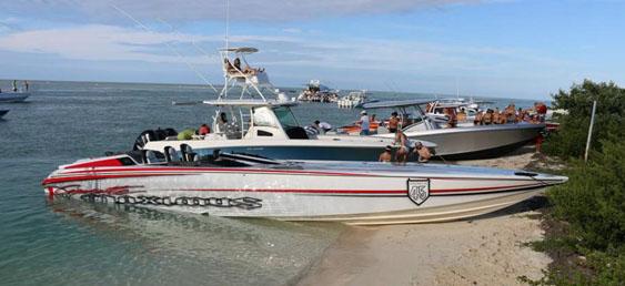 Pierce's previous boat was the unmistakable Cigarette 45 Maximus. Photo courtesy Michael Pierce