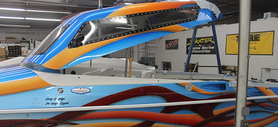 Aero-Marine is building new acrylic windshields for the 42-footer's unique canopy.