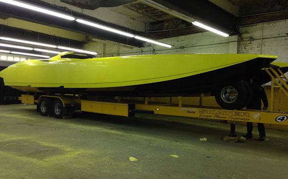 Power Boats New Roc in New Rochelle, N.Y.,  is currently preparing its 40-foot Apache catamaran for the 2015 racing season.
