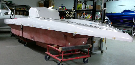 Bill Harrison's new 29 CCX should be in one piece and ready for paint by the end of this week.
