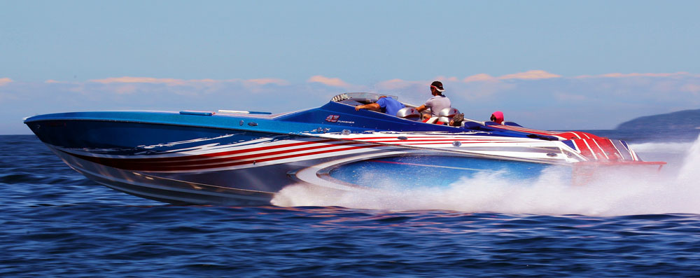 Bill and Monica Reiffer of Grand Rapids, Mich., own Punisher, a one-of-a-kind 43-foot Checkmate Powerboats V-bottom.