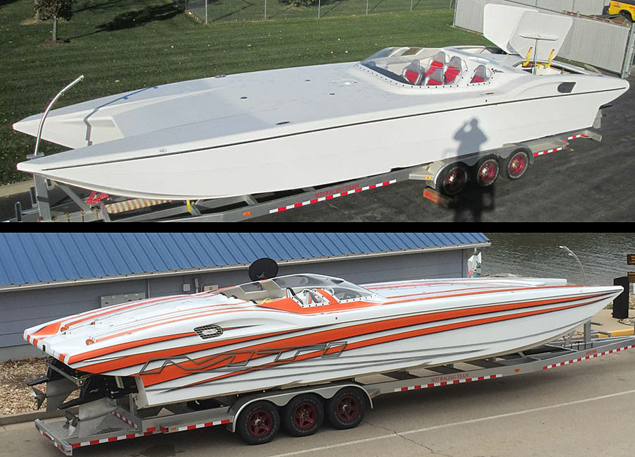 A look at the MTI 40 before and after its new paint job handled in-house at MTI. Photos courtesy Tim Gallagher