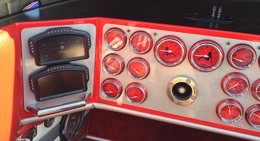 Chief also installed its digital engine monitoring display in the 38-foot Skater.