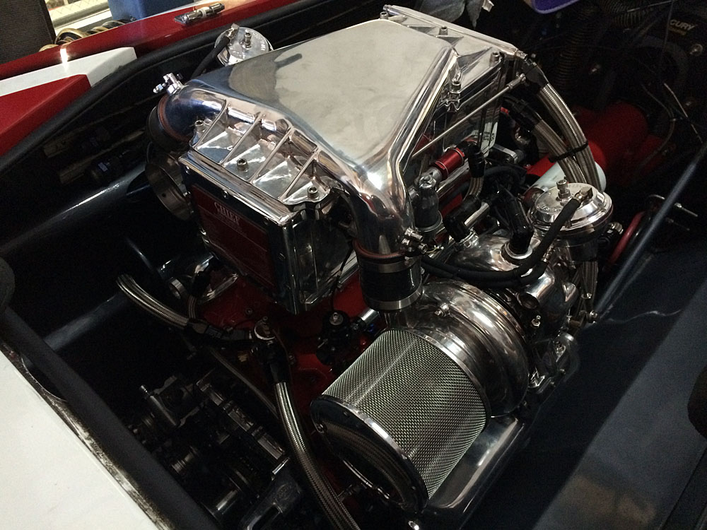A pair of 1,350-hp turbocharged engines from Chief Performance were recently installed in Southern's new ride.