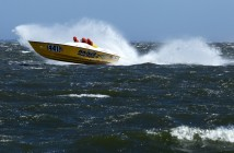 "Said Saris on last weekend's Barnegat Bay conditions: ""It wasn't rough out there, but it was nasty."" Photos by Tim Sharkey/Sharkey Images (http://sharkey-images.com)"