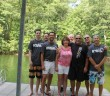 Last summer, Alex Trulio (far left) joined his father (back row with sunglasses) and the rest of the speedonthewater.com to cover the Lake of the Ozarks Shootout.