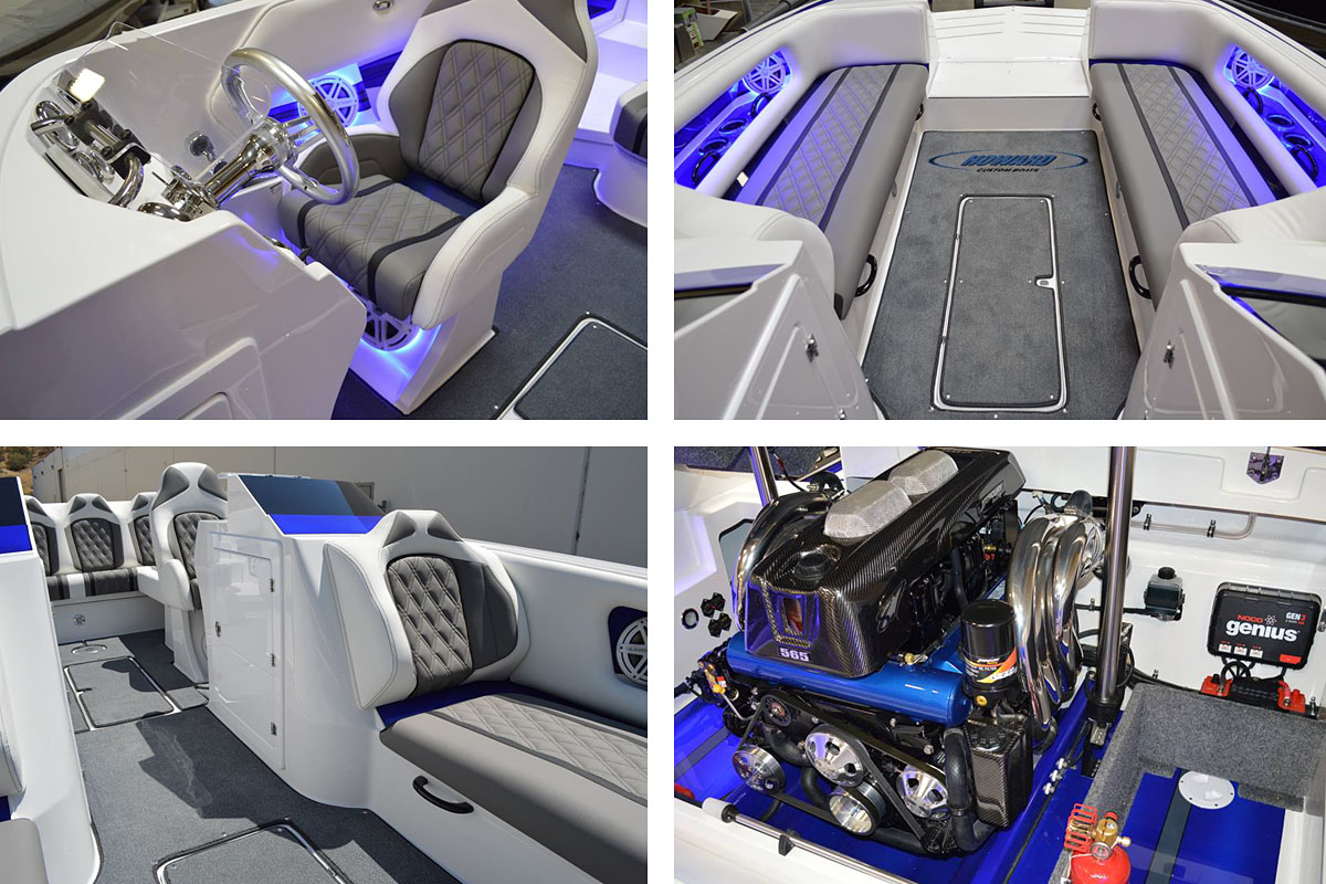 The new 288 Sport Deck is one of the most elaborate boats Howard has ever built.