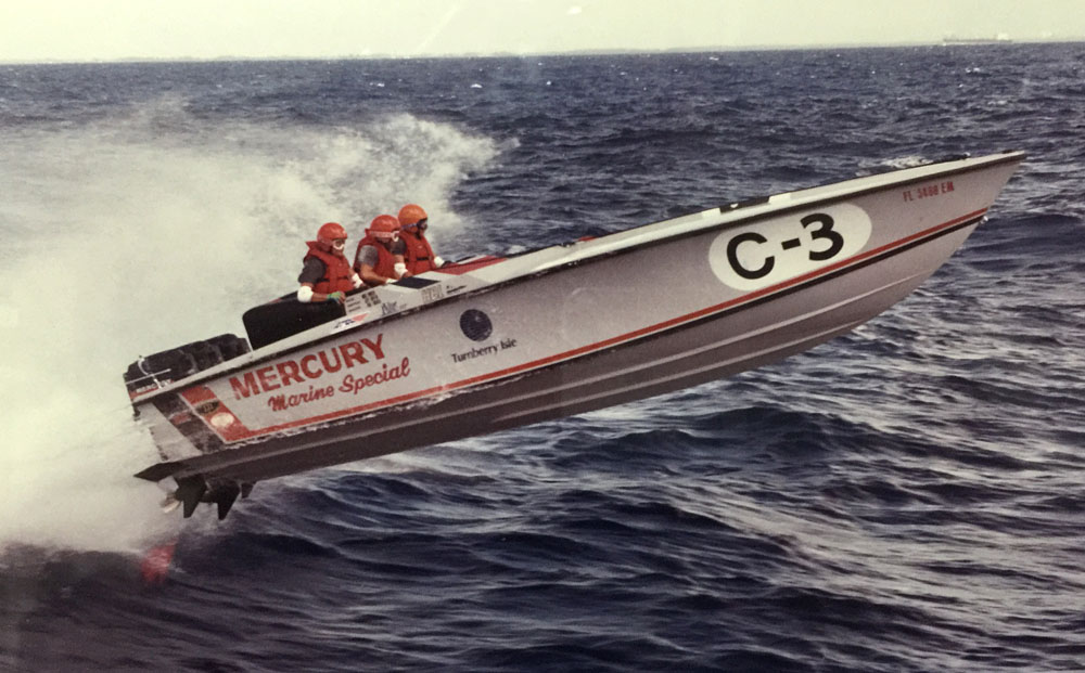 Larry Goldman's first raceboat was the Mercury Marine Special 28-foot Pantera. Photo courtesy Goldman
