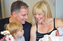 Mike Fiore, his wife, Shonda and Jet rallied around newborn Moxie in Fresno, Calif.
