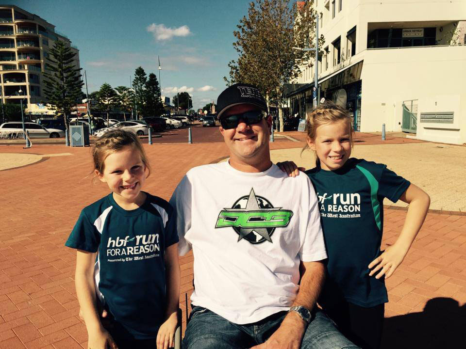 Edwards is hoping to bring his children, Isla (left) and Keely to the Desert Storm Poker Run in 2016.