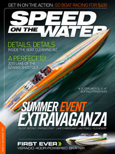 Vinnie Diorio's SL 41 Outerlimits featured on the cover of the latest Speed On The Water digital magazine was painted by Stephen Miles Design.
