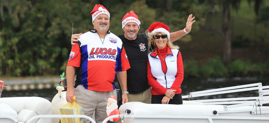 Several boaters got into the holiday spirit at the 15th annual Toys for Tots Fun Run in Palatka, Fla. Photo by Pete Boden