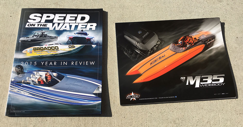 A lot of hard work went into the Speed On The Water 2015 Year In Review magazine, which is now available for purchase.