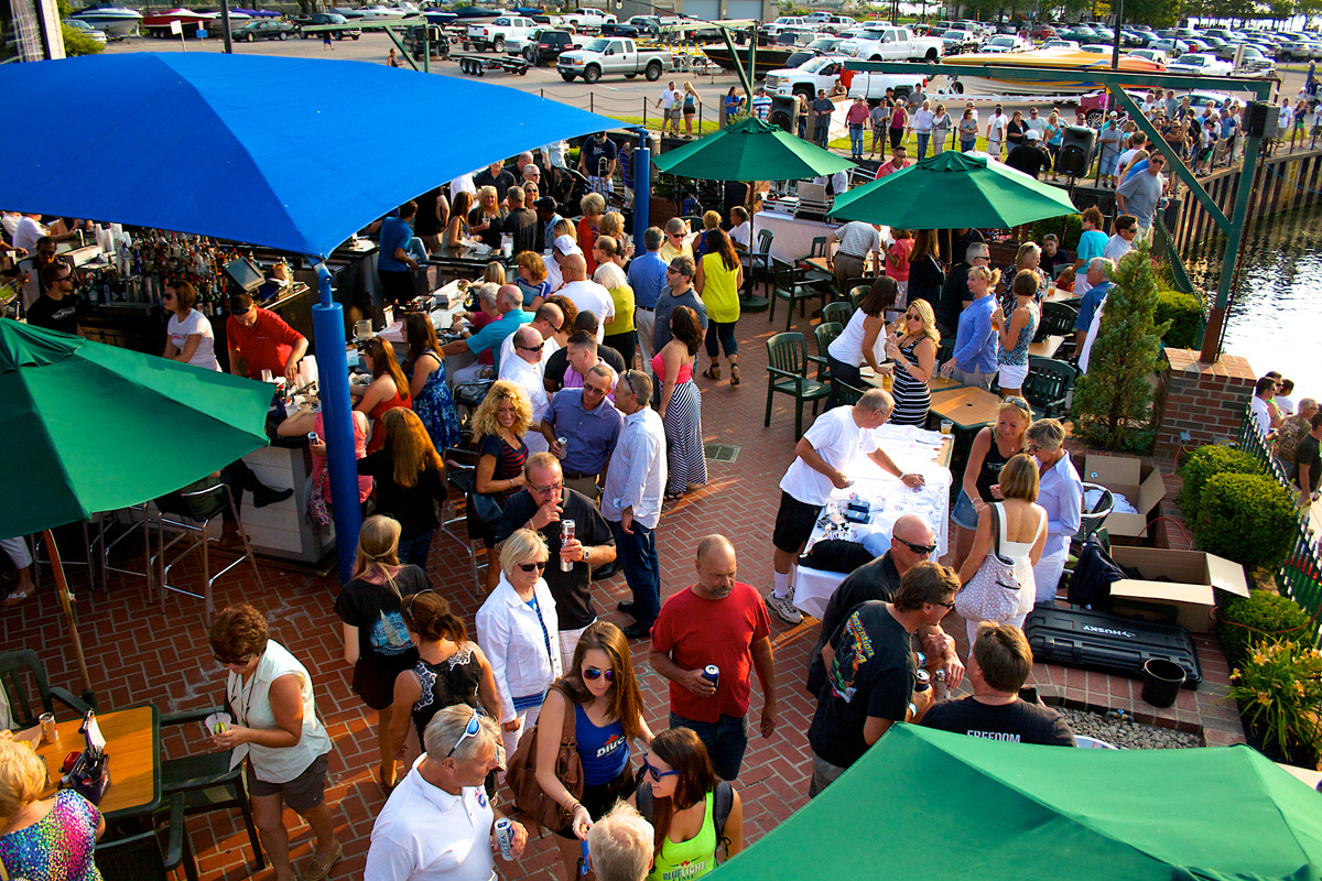 Exceptional hospitality and camaraderie have made the Buffalo Poker Run one of the most well-regarded go-fast boating events in the country. Photos by Tim Sharkey/Sharkey Images. (http://sharkey-images.com)