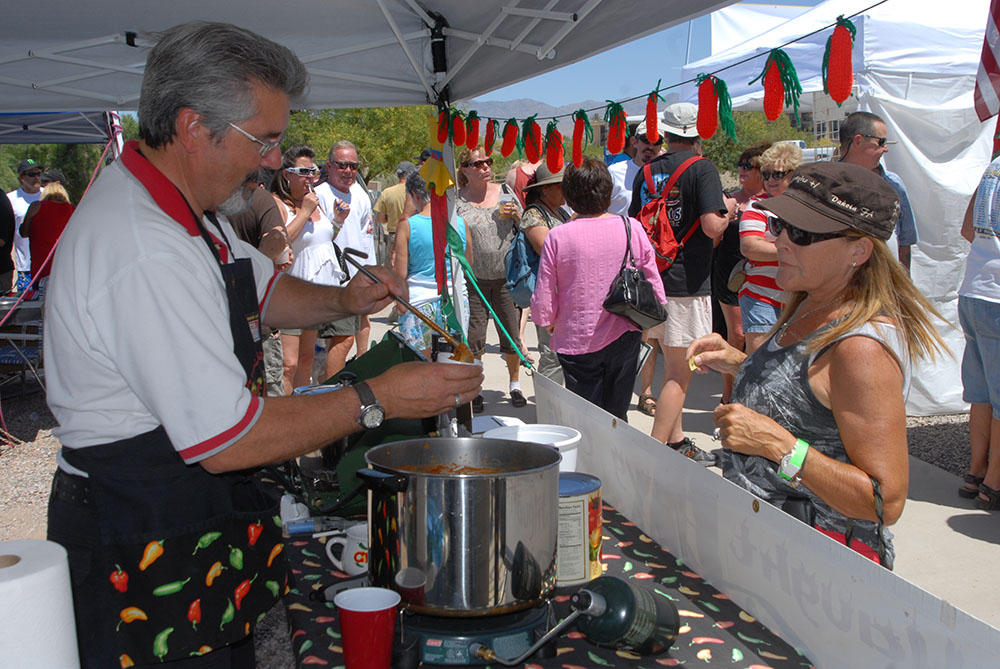 Boat show attendees also can sample chili from the fourth annual ICS Lake Havasu Chili Cook-Off competition.