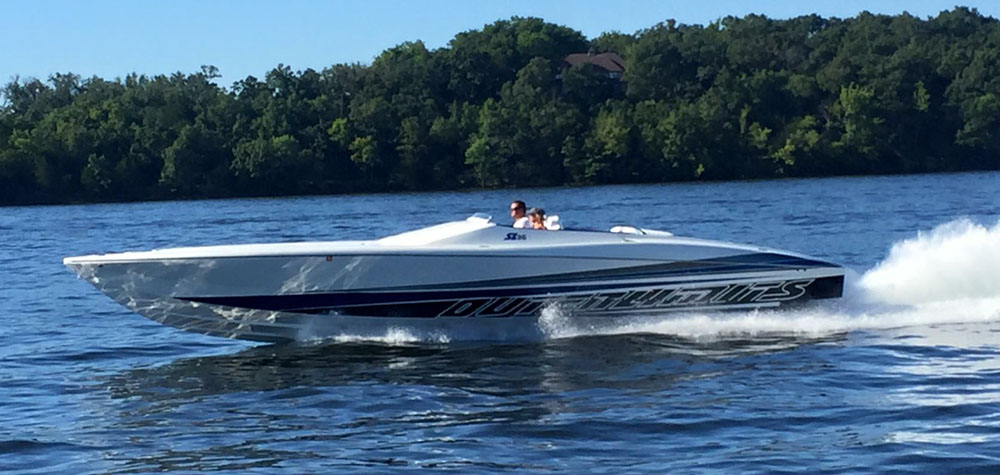 Brett and Terri Adams enjoyed their Outerlimits SL 36 for a couple of seasons before trading it in this winter.