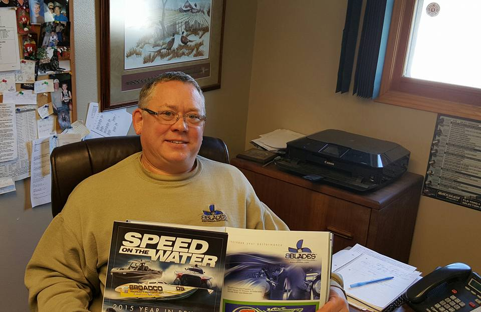 """Done with his winter reading, Brett Anderson is encouraging customers to get their propeller work to BBLADES sooner rather than later. """"There no shortcuts,"""" he said. """"You can't do seven or eight hours of work in two hours."""""""
