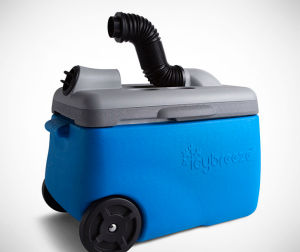 The basic Icybreeze unit resembles a beverage cooler—with a few modifications.