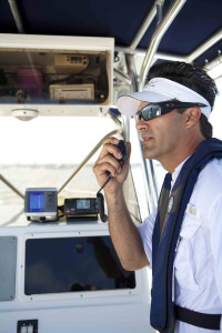 In an emergency, a VHF radio offers several advantages over a mobile phone. Photo by Sea Tow. (http://seatow.com)