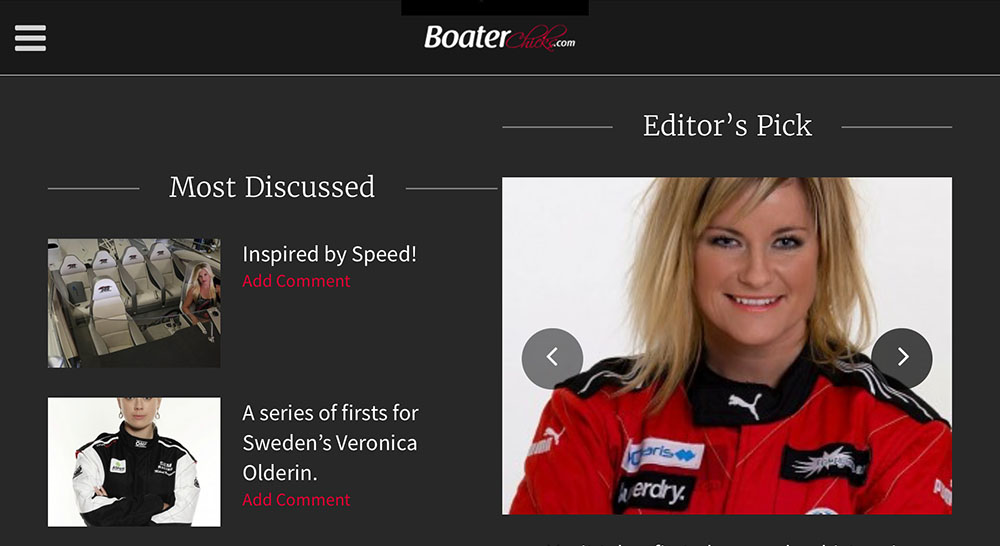 The new BoaterChicks.com website was created as a community for female boaters of all types to share common interests.