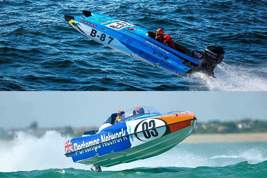 Sweden's Veronica Olderin, who won the 2015 Offshore Class 3B world championship in her Twister Marine raceboat (top), is teaming up with Wales' Daisy Coleman, who co-piloted the Pertemps boats to the overall runner-up position in the 2015 P1 SuperStock UK championship, to race in Jacksonville on Saturday.