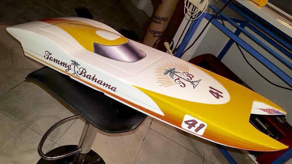 Micheal Stancombe said he recently finished a Pro Marine MTR boat for Paul Nemschoff, of the former Tommy Bahama offshore race team.