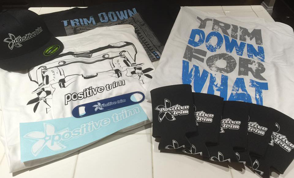 Along with men's and women's T-shirts and tank tops, the Positive Trim line includes stickers, hats, coozies and more.