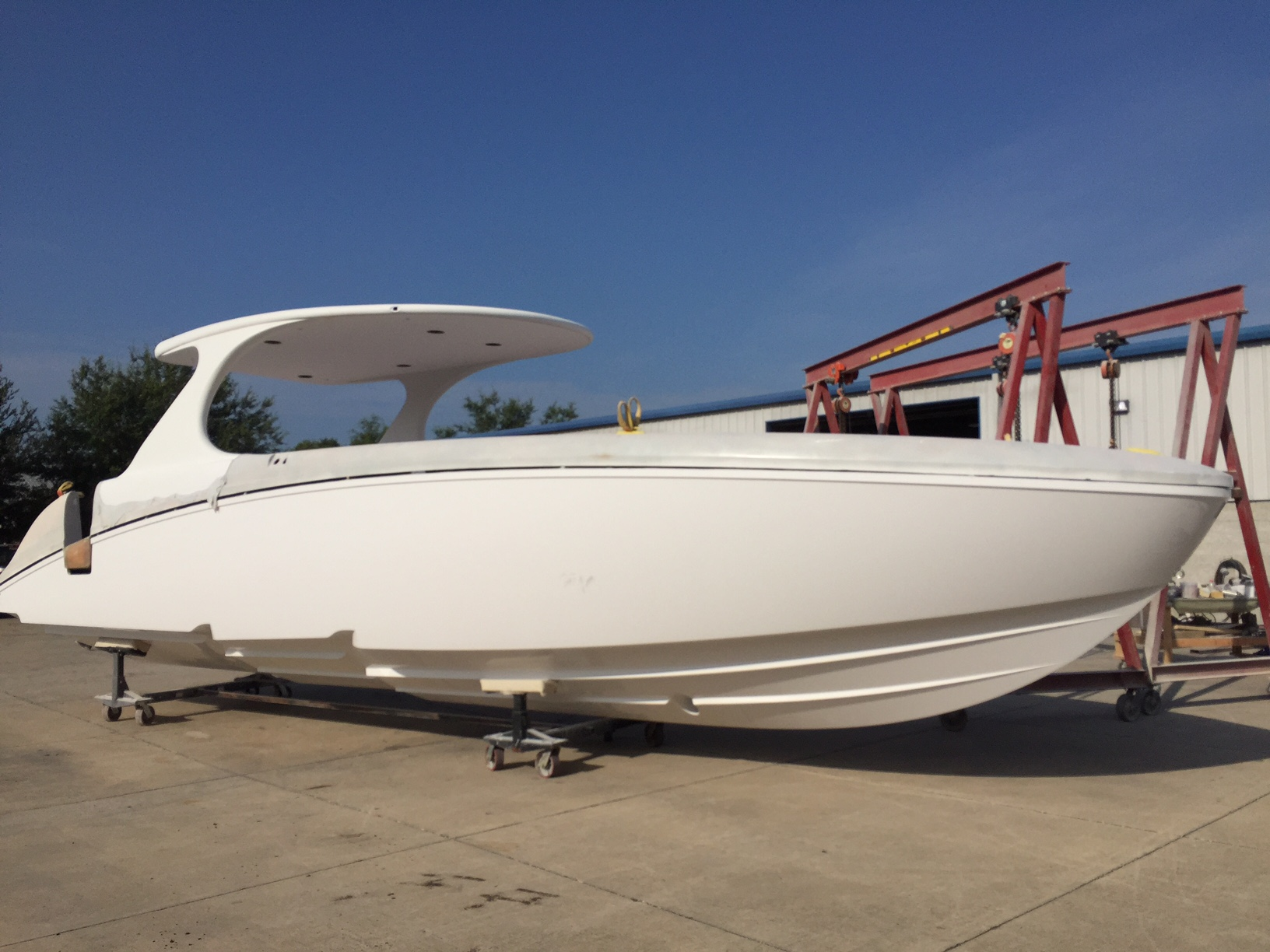 M4200 Hull No. 15. To date, 25 of Mystic's 42-footers have been sold.