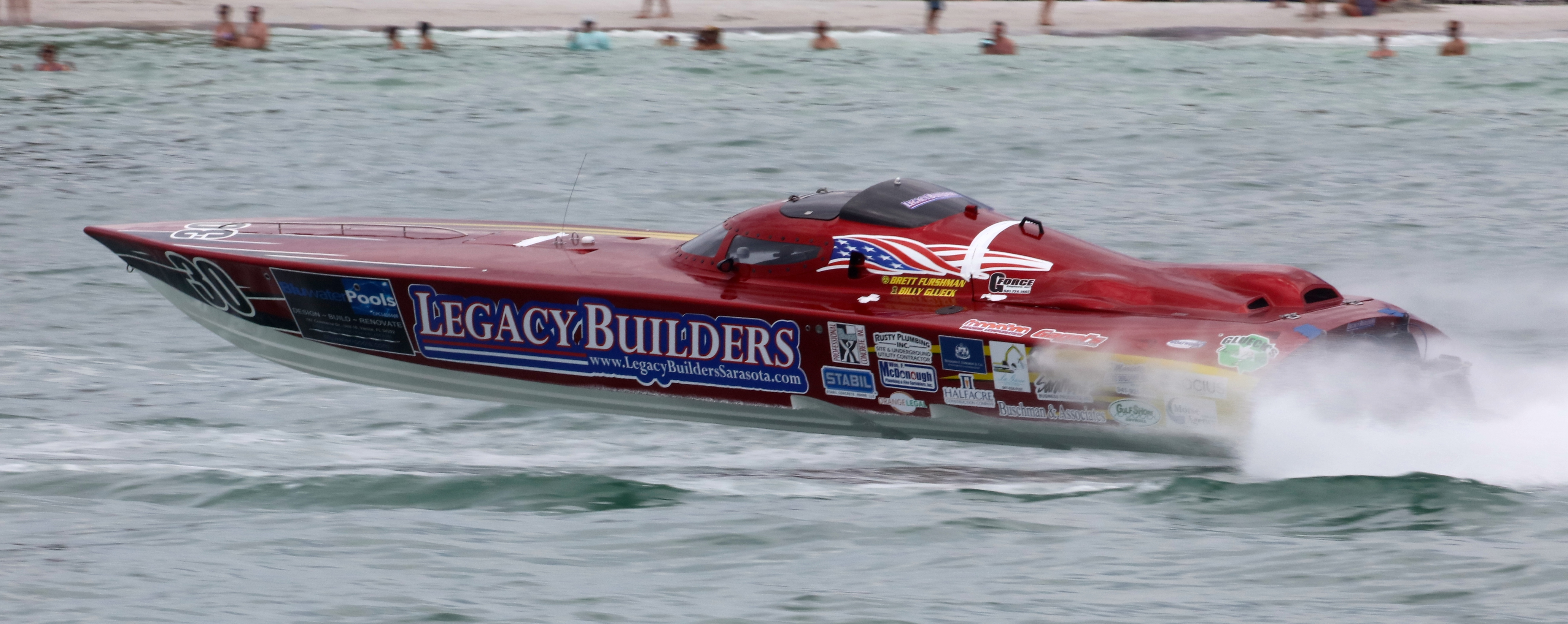 Hometown favorite Billy Glueck took a checkered flag in the Legacy Builders/Twisted Metal boat. All photos by Pete Boden/Shoot 2 Thrill Pix. (https://www.facebook.com/Shoot-2-Thrill-Pix-130528070292399/)