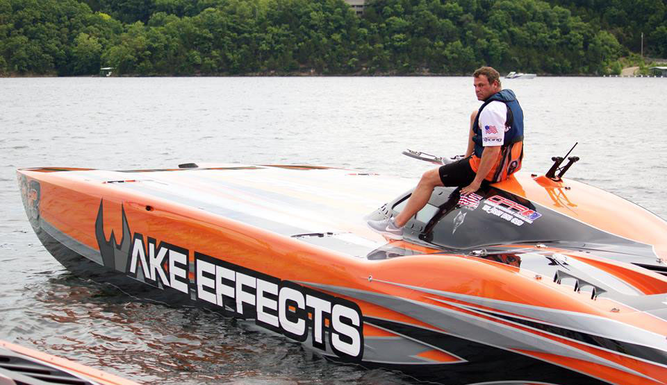 Rusty Rahm heads out in the Wake Effects MTI for a little testing prior to the Lake Race. Photo courtesy Rusty Rahm