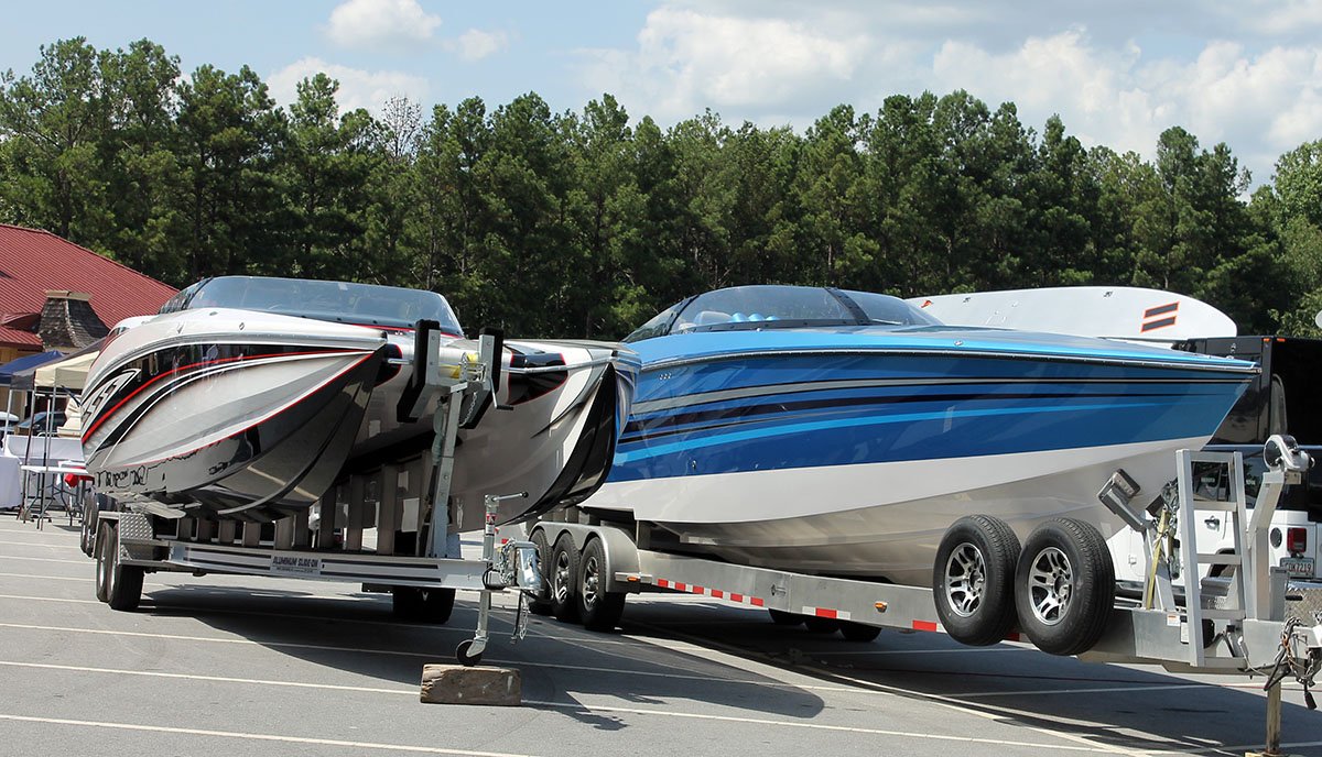 Sonic Powerboats showed off its sporty 32 Fast Cat and wave-crushing 42 Hyper Sonic models during the Pirates of Lanier Poker Run in Buford, Ga.