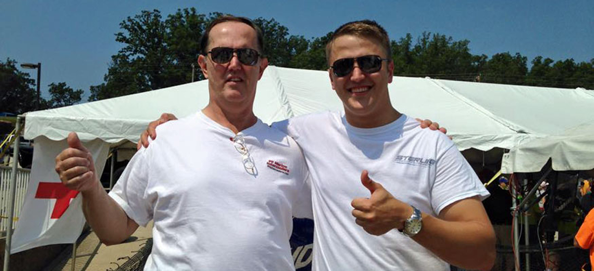 """Dennis (left) and Jason Parvey. Said Jason, """"It's just fun to go out and see what we can do."""""""