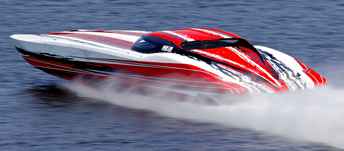 Between the Shootout on the Strip, the poker run and the top-speed event, the Wake Effects 52 MTI will be all over the place during Shootout week. Photo by Pete Boden/Shoot 2 Thrill Pix (https://www.facebook.com/Shoot-2-Thrill-Pix-130528070292399)